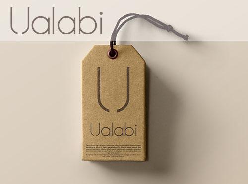 Etiqueta cartón Ualabi
